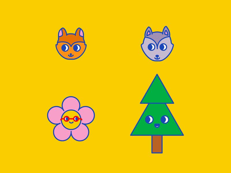 Character design AK 02 ai illustrator character icon animals character design vector kids illustration design branding kawaii ilustración illustration