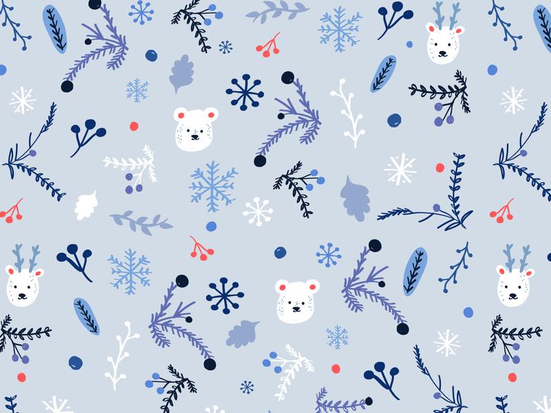 Christmas Pattern illustrator ai navidad children christmas valkuks brushes texture pattern art childrens illustration kawaii lovely cool ilustración illustration