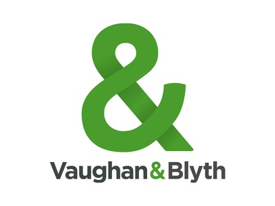 Vaughan & Blyth property developers gotham wordmarks shading ampersand logo construction branding
