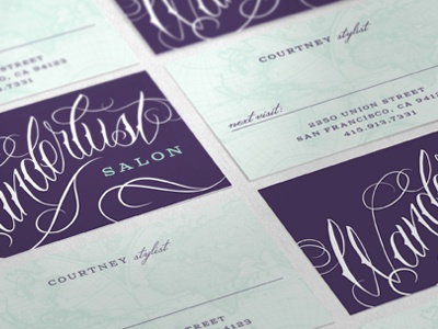 Wanderlust Salon Business Cards