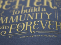 Gold Foil Typography Print