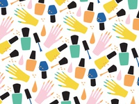 Nail Polish and Hands Pattern