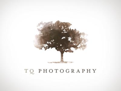 Photography Logo photography logo tree oak branding watercolor brown tq foliage