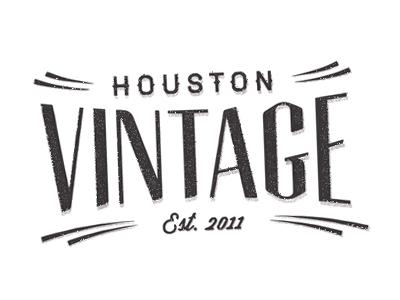 Houston Vintage II texas fashion vintage tag houston logo branding label