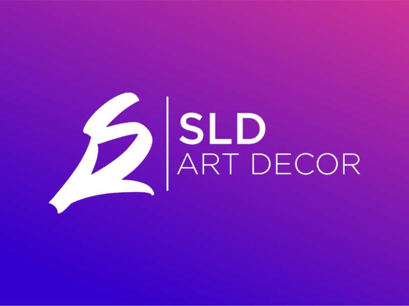 SLD art decor brush art pro logo