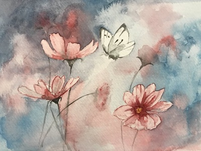 Watercolor VII flower watercolor