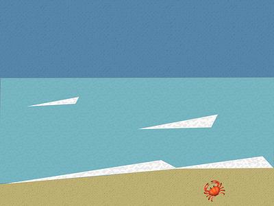 Emoji V crab emoji sea