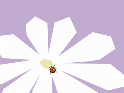 Emoji IX ladybug flower emoji