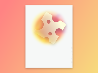 Poster Design clean minimal gradient cheese poster