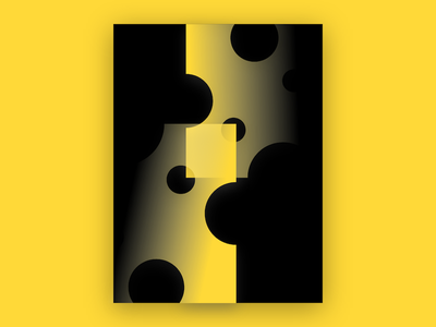Poster Design cheese black yellow poster