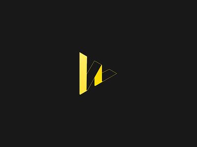 Logo Design triangle yellow logo