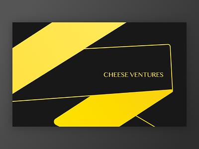 Business Card Design black yellow venture branding logo businesscard