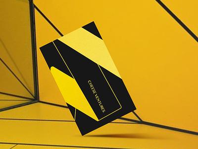 Business Card black yellow venture branding logo businesscard