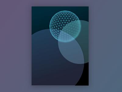 Poster Design circle blue poster