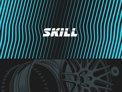 Skill Forged Wheels design vector logo