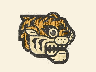 Tiger concept art character design pictogram illustration graphic design flat logo illustrator design vector