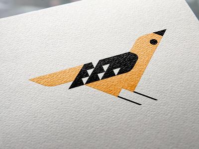 Bird art flat vector illustration geometric graphic design