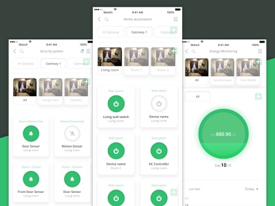 Maevi Home App minimal app smart home app design interface design ux ui design uiux