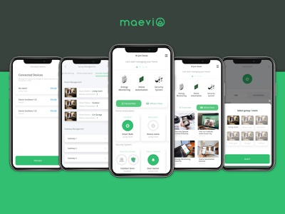 Maevi Home App security system smart home app design interface design ux ui design uiux