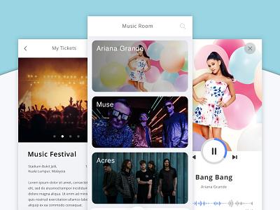 Event Festivals and Music App music app minimal app app designer uiux ui ux interface design