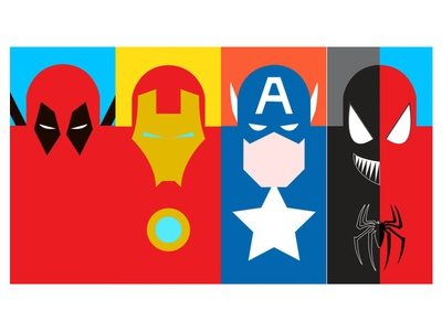 Marvel Characters Illustration