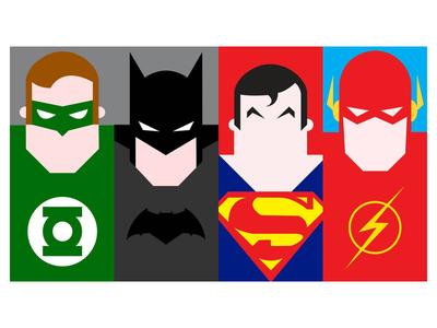 DC Comics superhero characters illustration