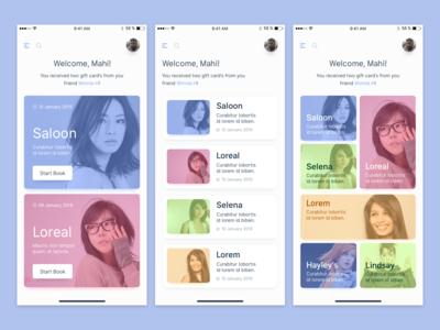 Booking App Dashboard Interface