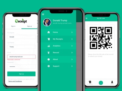 Eeceipt App Design