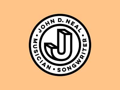 John D. Neal bold badge music logo