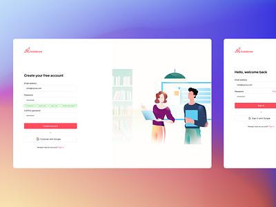 Create Account Kolabree app illustrator webapp design webapp web minimal branding ui logo illustration design