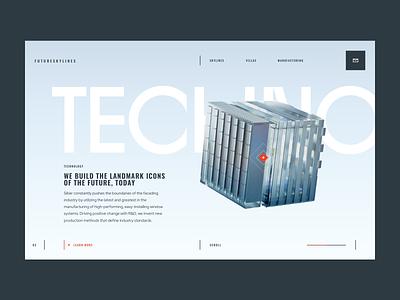 FutureSkyLines — Technology web design web ux design ux ui design ui interaction design brand inspiration brand design
