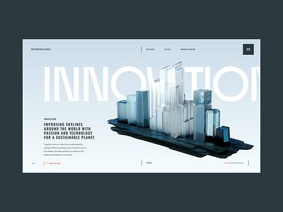 FutureSkyLines Home Transitions web design web ux design ux interaction ui design ui inspiration design brand