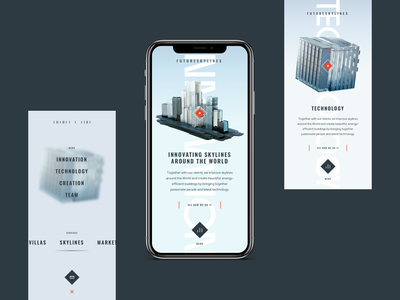 FutureSkyLines Mobile brand inspiration ui design ui interaction ux design ux web web design