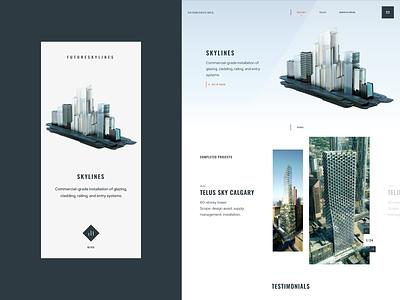 FutureSkyLines brand design brand ui design ux design web web design app design mobile app inspiration building illustration website ux ui home design