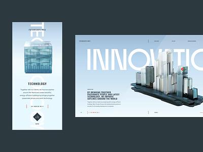 FutureSkyLines Innovation and Technology brand design inspiration brand design interaction ui design ui ux design ux web web design