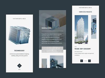 FutureSkyLines Mobile app colors design illustration minimal page ui ux web website