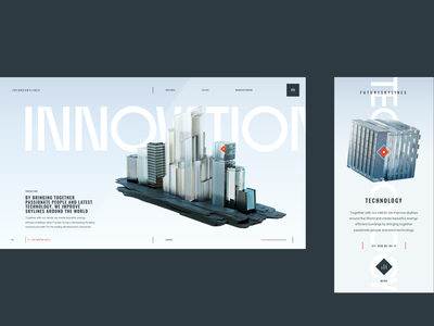 FutureSkyLines — Innovation and Technology app color illustration minimal page brand design brand inspiration interaction ui design ui ux design ux web website web design