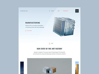 FutureSkyLines Manufacturing app colors design illustration minimal page ui ux web website