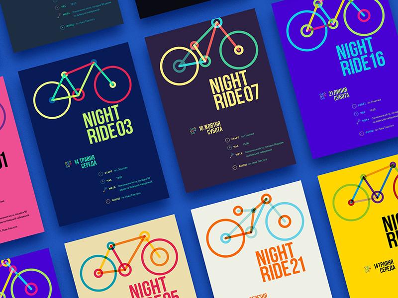 Nightride non profit branding