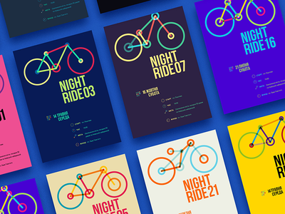 Nightride Non Profit Branding poster non profit bicycle logotype branding visual identity