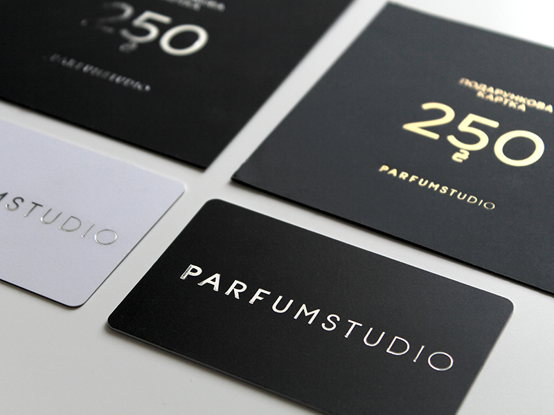 Parfumstudio Collaterals perfume retail branding typography identity minimalism