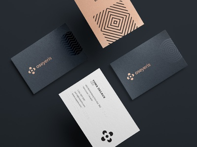 Oseyeris Branding accessible business cards tactile branding