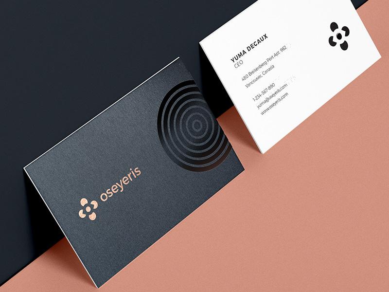 Oseyeris Cards spot gloss print accessible branding