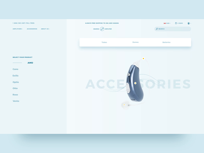 Accessories Interactions interactions transitions ecommerce web design ui 3d