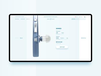 Accessory Details ecommerce 3d ui web design