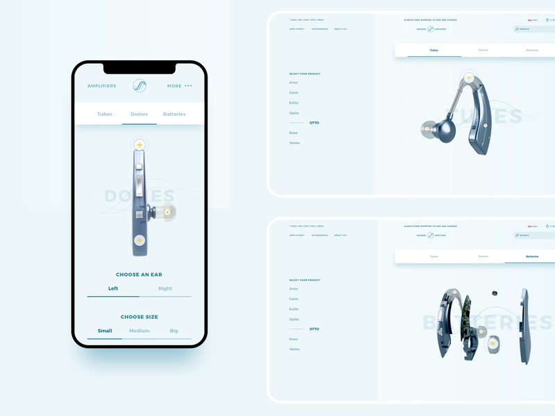 Accessories responsive ecommerce web design ui