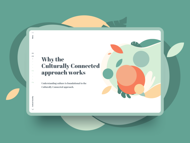 Culturally Connected Final Direction primitive educational healthcare infographic abstract ui web design