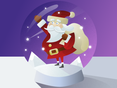 Santa Clause Christmas Ball Illustration