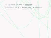 kolber.info dynamic background