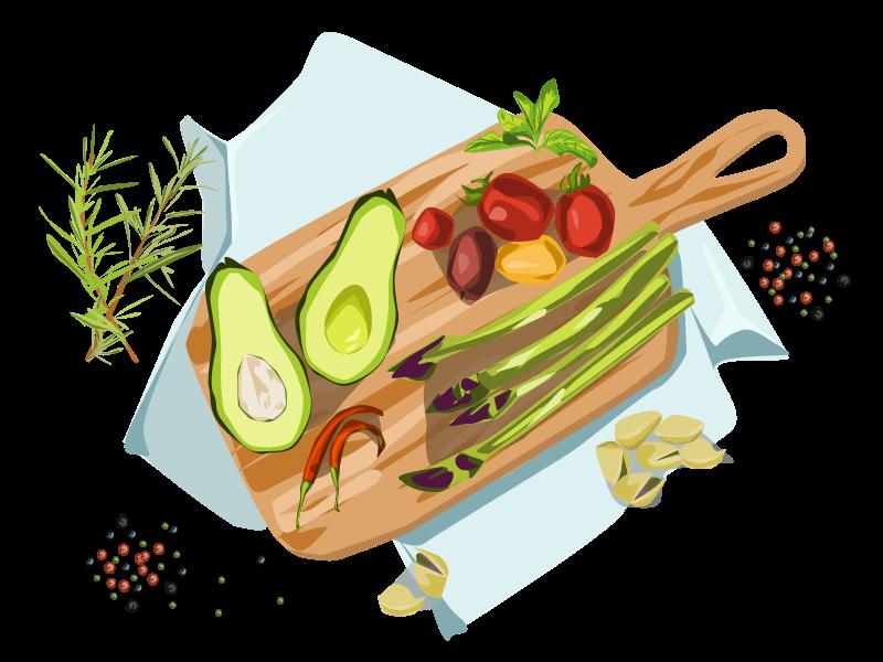 Food plato spices fruits vegetables food icon vector illustration flat design